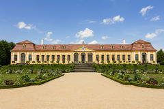 Baroque garden and Friedrich Palace Royalty Free Stock Photography