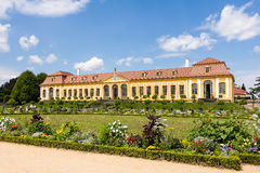 Baroque garden and Friedrich Palace Royalty Free Stock Photo