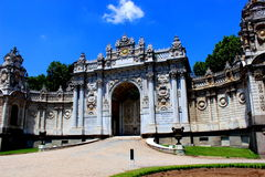 Baroque Gate. Dolmabahce palace gates - Istambul, Turkey Royalty Free Stock Photography