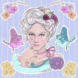 Baroque girl Royalty Free Stock Image
