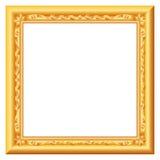 Baroque gold. Vector baroque golden vintage frame Royalty Free Stock Photo