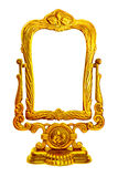 Baroque golden mirror frame Stock Photo