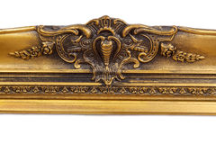 Baroque golden picture frame Stock Photo