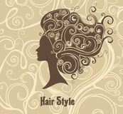 Baroque hair style. Royalty Free Stock Images