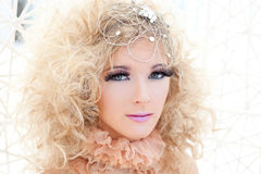 Baroque haute couture woman portrait Stock Photos