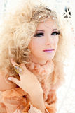 Baroque haute couture woman portrait Royalty Free Stock Image