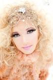 Baroque haute couture woman portrait Stock Photography