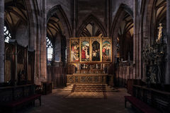 Baroque High Altar in Freiburg Cathedral Stock Photo