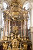 Baroque High Altar of old Peter`s Church Munich Stock Photography