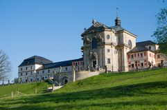 Baroque hospital Kuks, eastern Bohemia, Czech republic. Baroque hospital Kuks in eastern Bohemia, Czech republic, Europe Royalty Free Stock Image