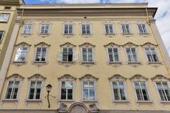 Baroque house facade in Salzburg Royalty Free Stock Photos