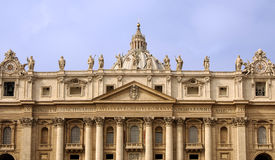 Baroque house front. Basilica of Saint Peter Vatican Rome Royalty Free Stock Image