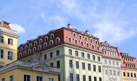 Baroque houses, dresden Royalty Free Stock Image