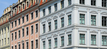 Baroque houses, dresden Stock Image