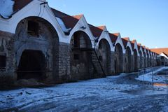 Baroque Imperial Stables, part of the residence and estate of Francis of Lorraine, 1745-1773,Kopčany,Slovakia,Horse Stock Photos