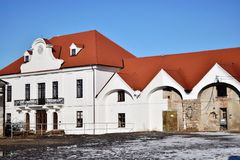 Baroque Imperial Stables, part of the residence and estate of Francis of Lorraine, 1745-1773,Kopčany,Slovakia,Horse Stock Images