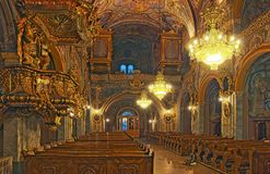 Baroque interior, church of the Augustinian monastery Vorau Stock Photos