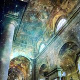 Baroque interior church with stars. Divine presence concept. Royalty Free Stock Photography