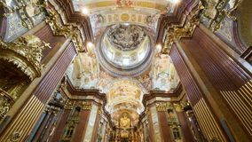 Interior of Melk Abbey church Stock Photos