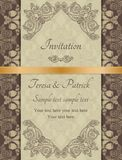 Baroque invitation, brown Royalty Free Stock Photo