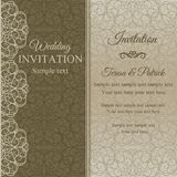 Baroque invitation, dull gold Royalty Free Stock Images
