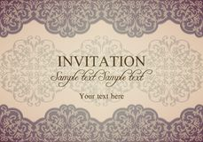 Baroque invitation, patina Royalty Free Stock Photography