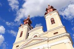 Baroque landmark. In Arad, Romania. Cathedral of the Birth of Saint John the Baptist Stock Photo