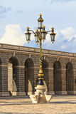 Baroque lantern near royal palace in Madrid, Spain Royalty Free Stock Photos