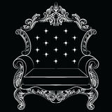 Baroque luxury style armchair furniture Stock Images