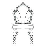 Baroque luxury style chair isolated Royalty Free Stock Photography