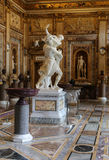 baroque marble sculptural group by Italian artist Gian Lorenzo Bernini, Rape of Proserpine in Galleria Borghese, Rome Stock Images