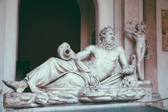 Baroque marble sculptures in Vatican royalty free stock image