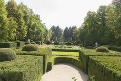 Baroque maze, Jardines de la Granja de San Ildefonso, monuments Stock Photo