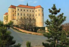 Baroque Mikulov chateau Stock Images