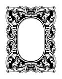Baroque mirror frame. Vector Imperial decor design elements. Rich encarved ornaments line arts royalty free illustration