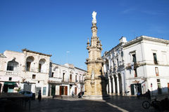 Baroque nardo. The historic baroque square of nardo in italy stock photography
