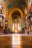 Baroque nave. Of a church in Krakow Royalty Free Stock Photo
