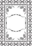 Baroque nice vintage art page royalty free illustration