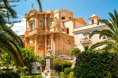 Baroque Noto. Building in the Baroque City of Noto Royalty Free Stock Image