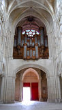 Baroque organ in the Cathedral of Reims Stock Images