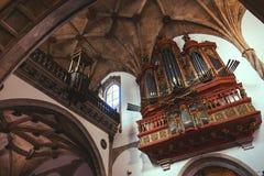 Baroque organ in the Santa Cruz Stock Image