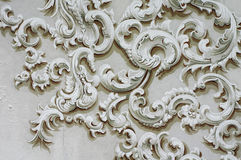 Baroque ornament detail decoration wall Royalty Free Stock Photo