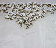Baroque ornament detail wall decoration 2 Stock Image
