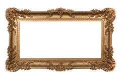 Baroque Ornamental Isolated Frame on White Stock Image
