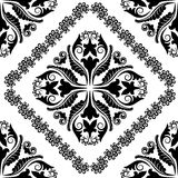 Baroque ornaments. Silhouette of the baroque ornaments Stock Images