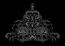 Baroque Ornate Calligraphy Stock Photos
