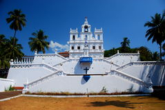 The Baroque Our Lady of he Immaculate Conception Church in Panjim Royalty Free Stock Photos