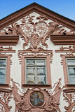 Baroque painted house with stucco decoration in Landshut, German Stock Photography
