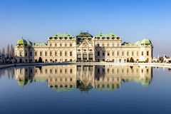 Free Baroque Palace Belvedere Is A Historic Building Complex In Vienna, Austria, Consisting Of Two Baroque Palaces With Garden Between Stock Photos - 160595943