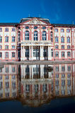 Baroque palace Bruchsal with water reflection Stock Photos